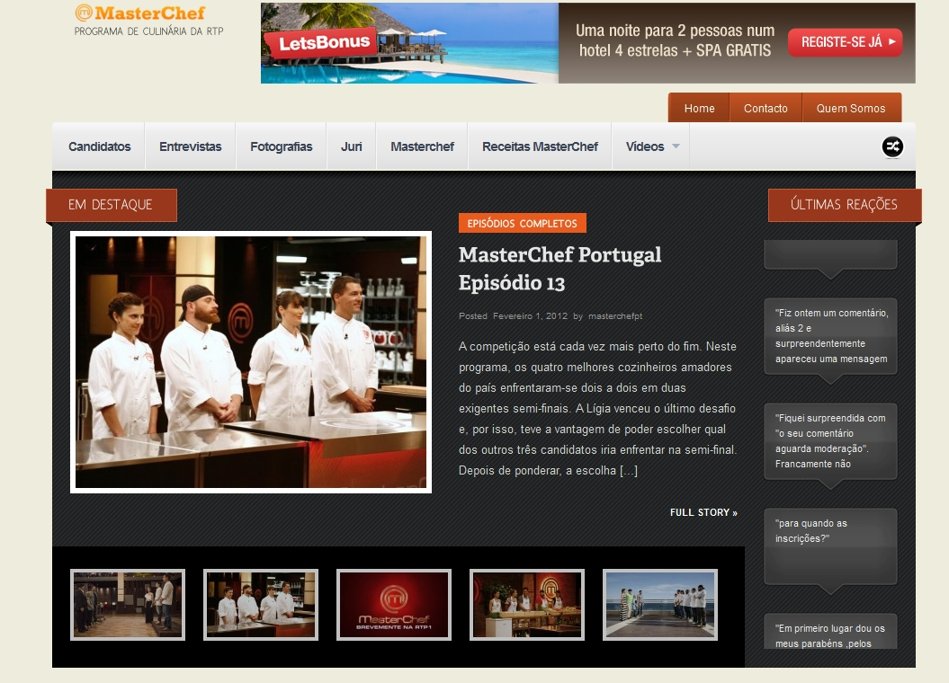 masterchef portugal site